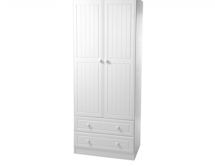 Warwick 2 Door 2 Drawer White Wardrobe