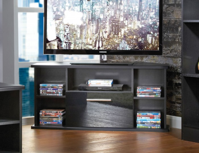 Vista Black High Gloss Corner TV Unit