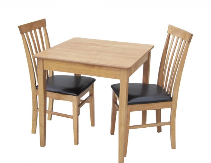 Augustine Wooden Square Kitchen Table and Chairs