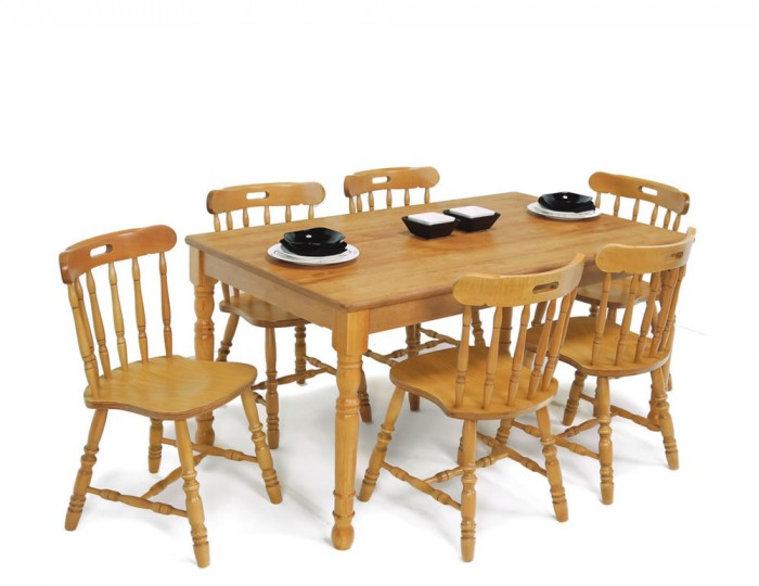 Sutton Oak 150cm Dining Table and Chairs