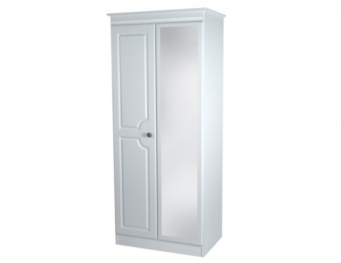 Snowdon 2 Door Tall Narrow Mirrored Wardrobe