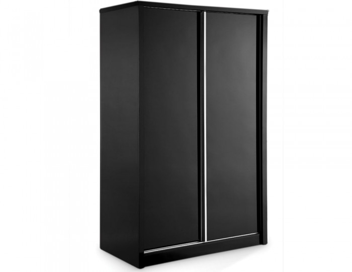Theo Black High Gloss Sliding Wardrobe