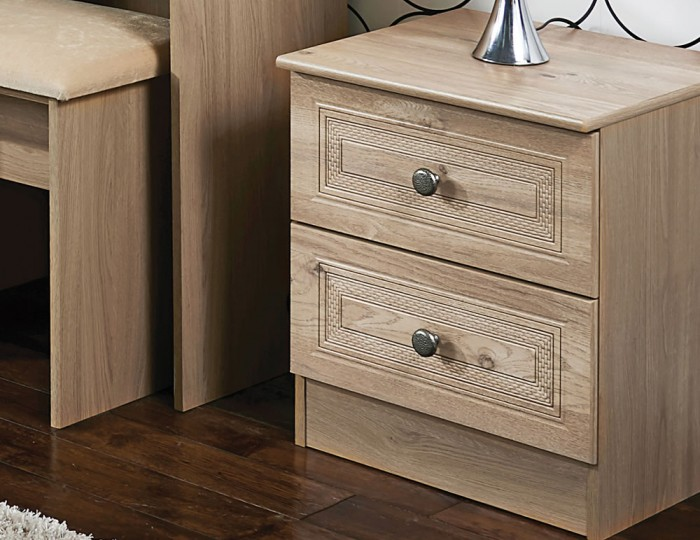 Henlow 2 Drawer Bedside Chest