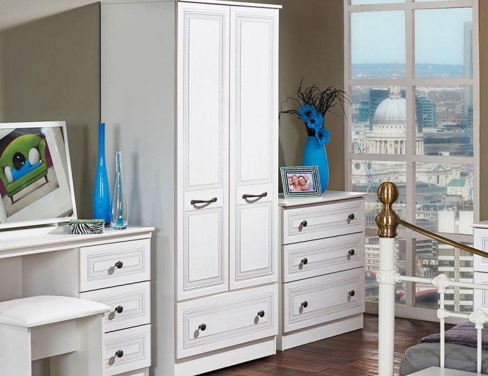 Henlow 2 Door 1 Drawer Wardrobe