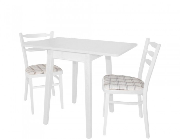 Kayleigh White Small Drop Leaf Table and Chairs