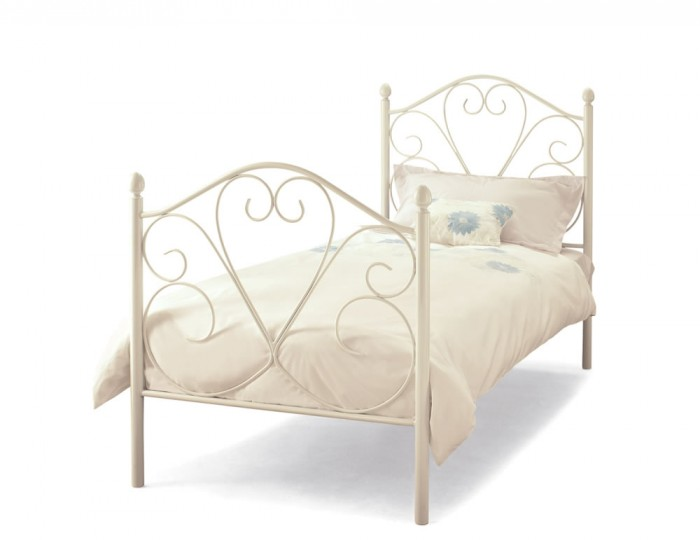 Isabella White Metal Bed