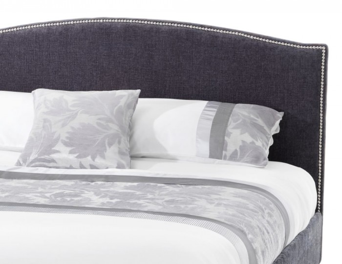 Lotty Charcoal Upholstered Bed