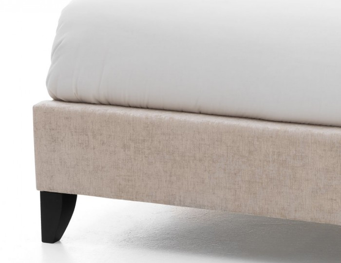Lotty Cream Upholstered Bed