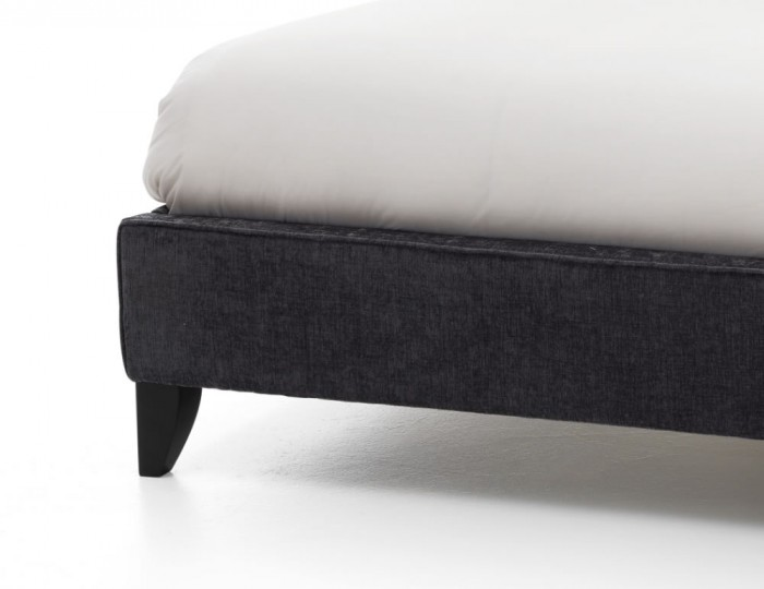 Charlee Charcoal Upholstered Bed