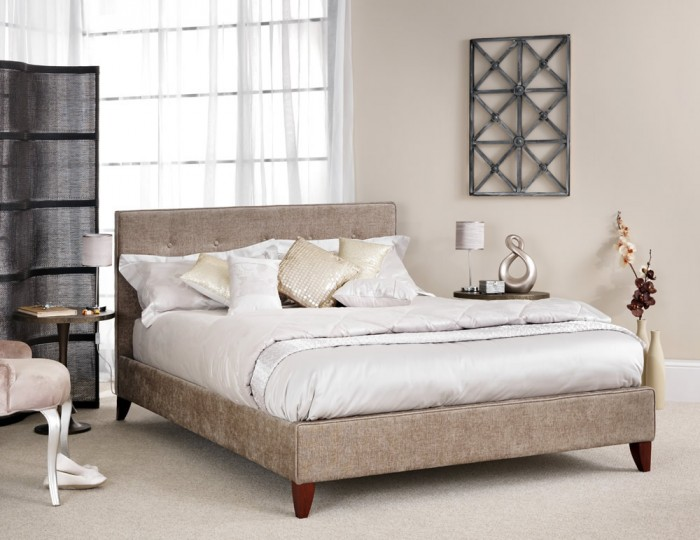 Charlee Fudge Upholstered Bed