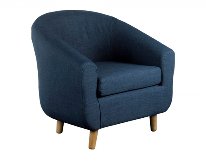 Rita Midnight Blue Fabric Tub Chair