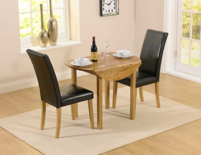 Hainton round drop leaf black dining set uk delivery for Black round dining room table with leaf