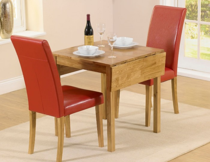 Hainton Rectangle Drop Leaf Red Dining Set