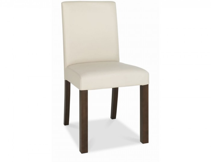Akita Square Ivory Faux Leather Dining Chairs