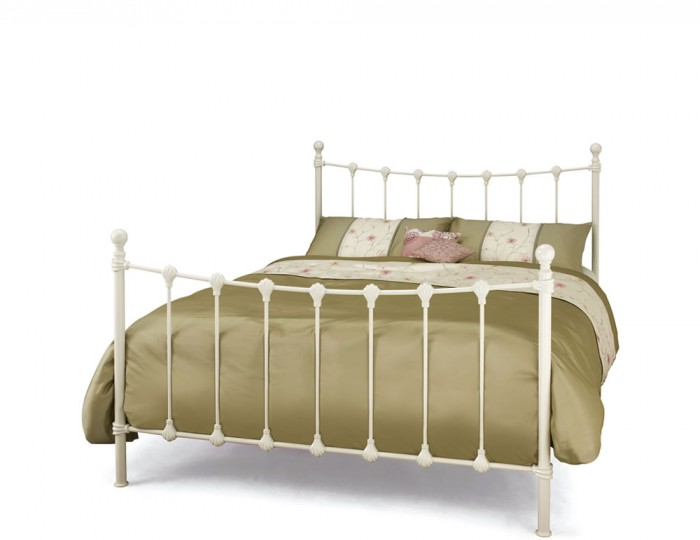 Marseille Ivory Metal Bed Frame
