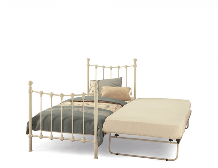 Marseille Ivory Metal Guest Bed