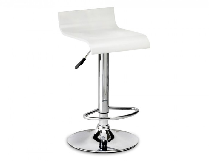 Stratos White Gas Lift Bar Stool