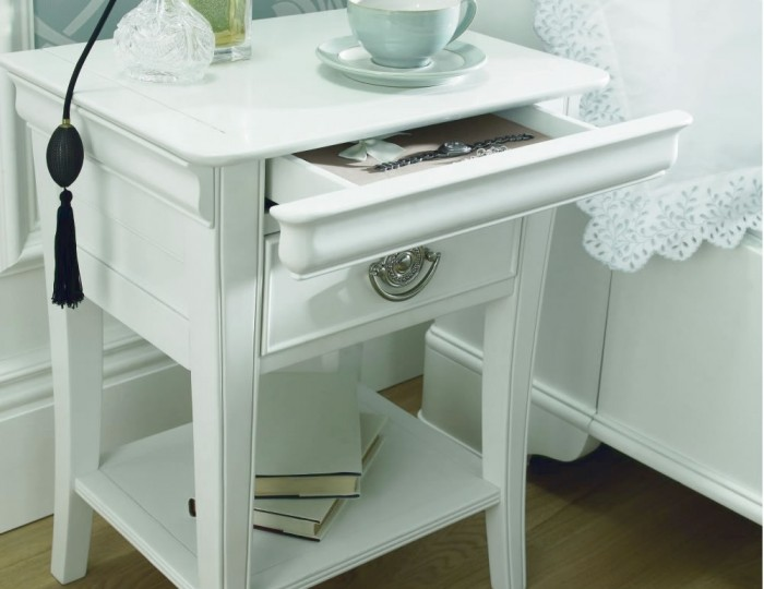 Tilly White Bedside Table