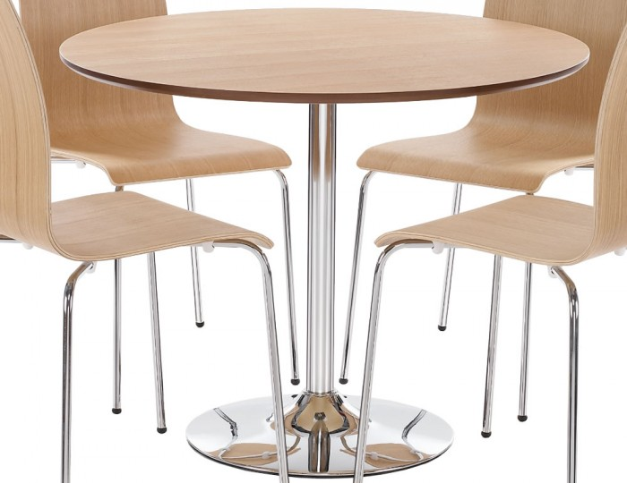 Shoreditch Oak Round Kitchen Table and Chairs