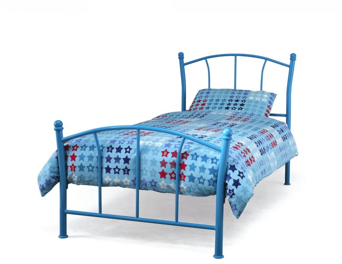 Penelope Blue Metal Bed Frame