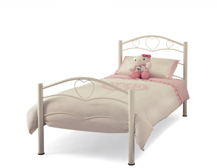 Yasmin Antique White Childrens Metal Bed