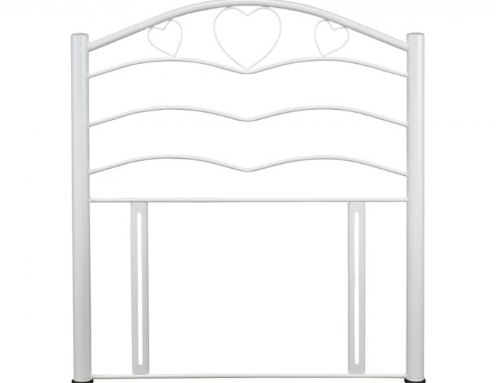 Yasmin Antique White Childrens Metal Headboard