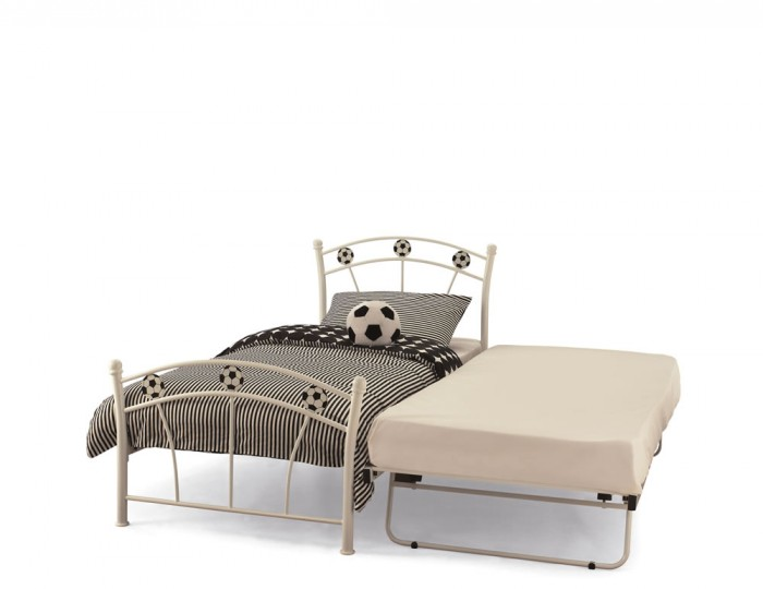 Soccer White Metal Guest Bed
