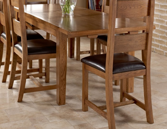 Hereford Oak Extending Dining Table and Chairs