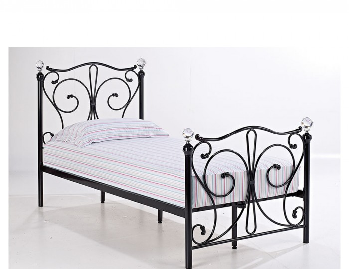 Empoli Black Metal Bed Frame