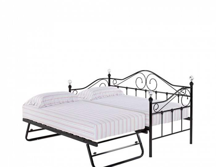 Empoli 3ft Black Metal Day Bed