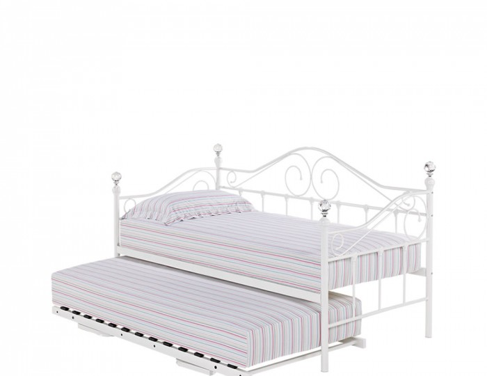 Empoli 3ft Off-White Metal Day Bed