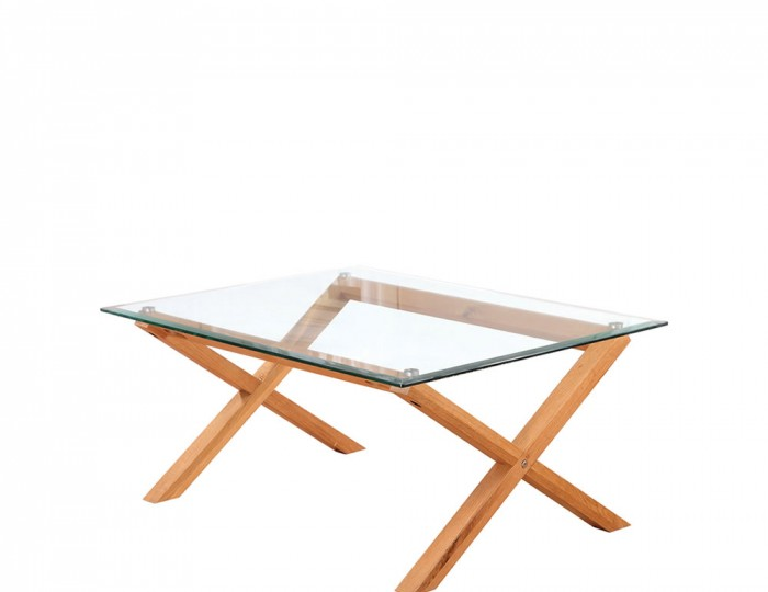 Mendoza Oak and Glass Coffee Table