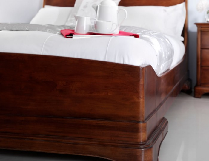 Chambery Cherry Wooden Sleigh Bed