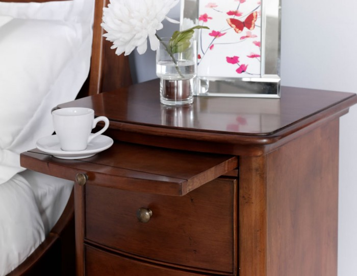 Chambery Cherry Wooden Bedside Chest