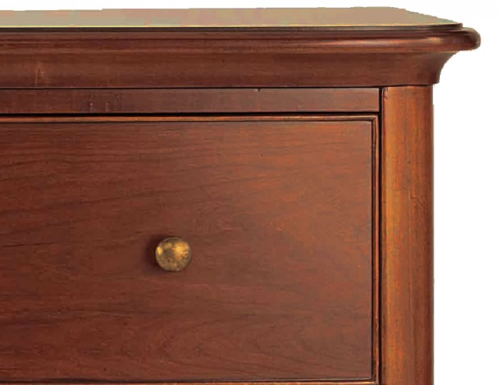 Chambery Cherry Wooden 5 Drawer Tall Chest