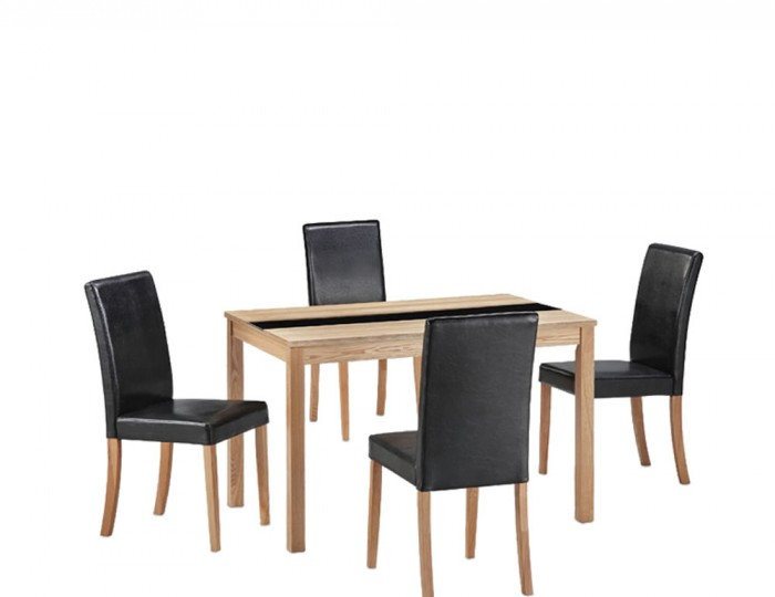Brisbane Ash Small Dining Table And Chairs 7 Day Express