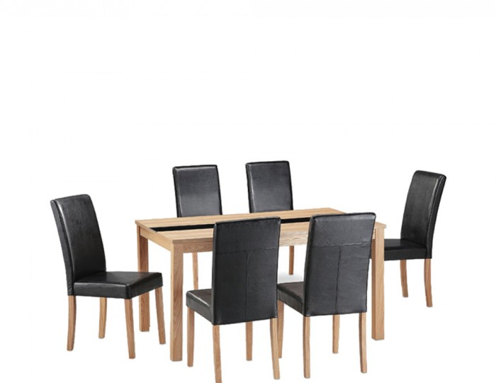 Brisbane Ash Large Dining Table and Chairs