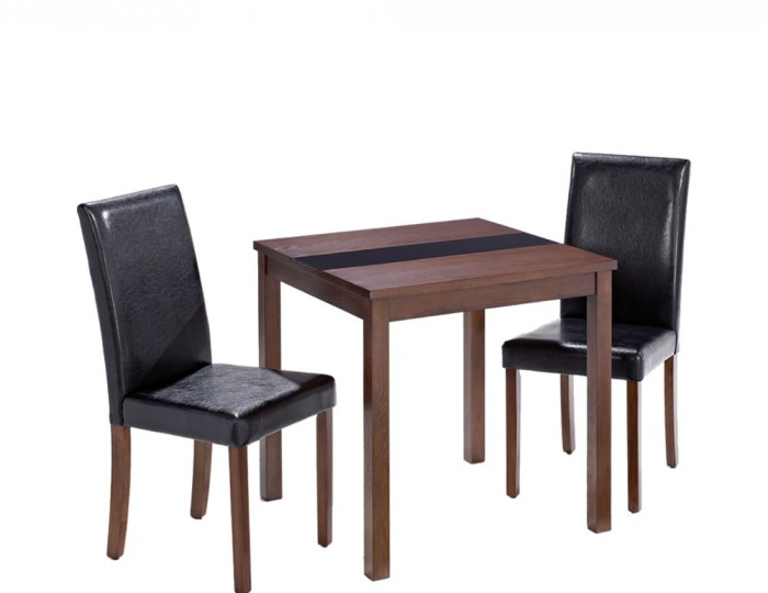 Brisbane walnut breakfast table and chairs uk delivery for Furniture zone warwick