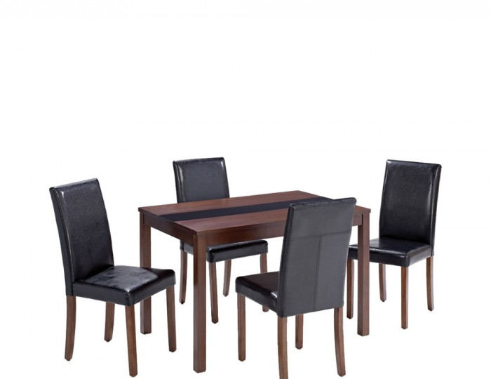 Brisbane Walnut Small Dining Table And Chairs Uk Delivery