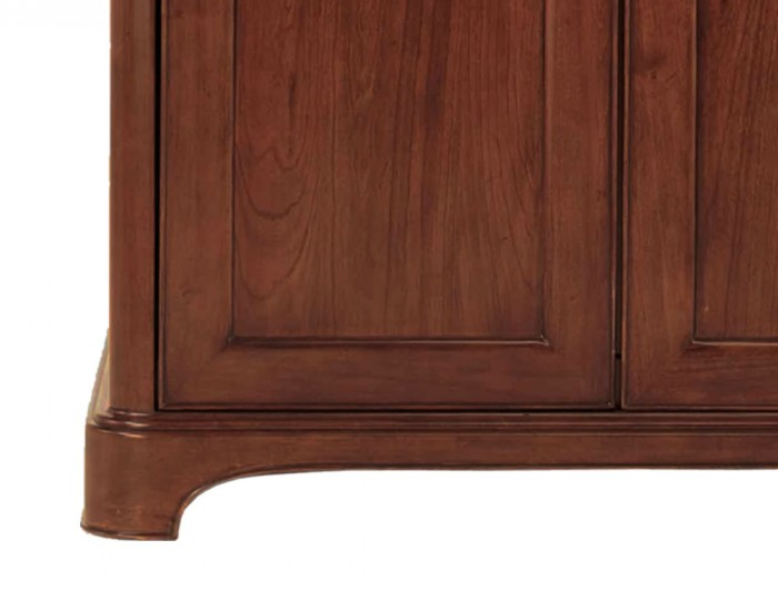 Chambery Cherry Wooden 3 Door Wardrobe