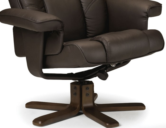 Malmo Brown Faux Leather Recliner Chair