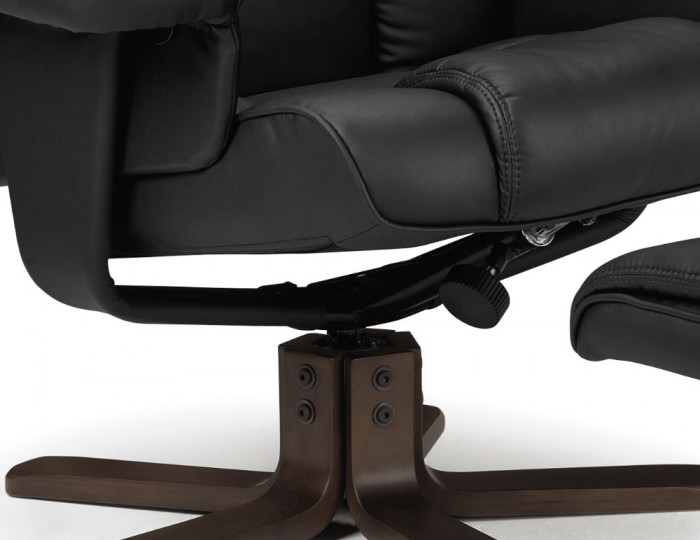 Malmo Black Faux Leather Recliner Chairs