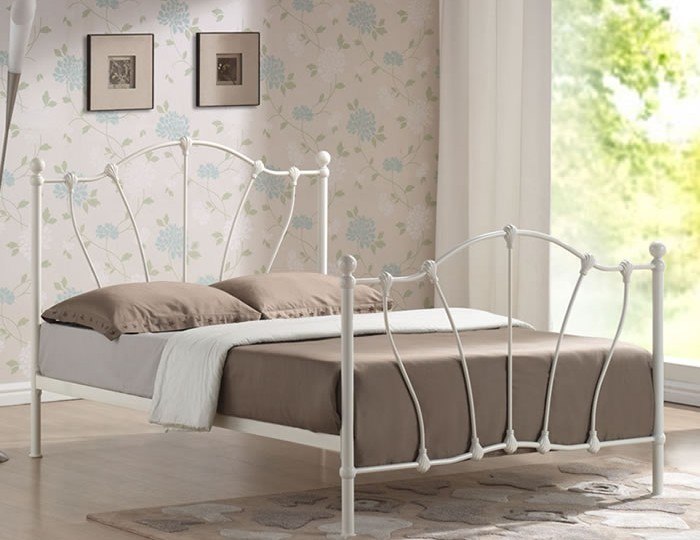 Quinn Ivory Metal Bed Frame