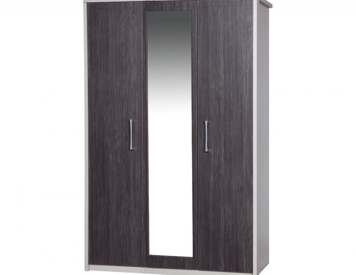 Hulsen 3 Door Wardrobe with Mirror