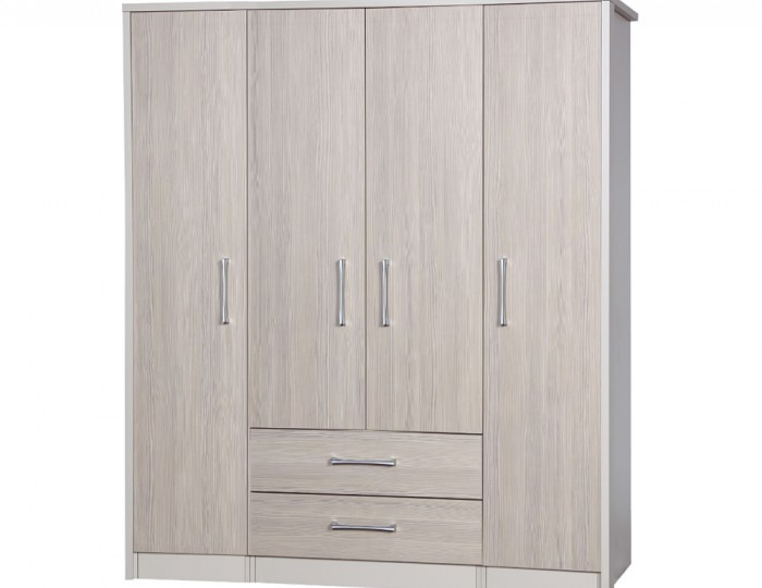 Hulsen 4 Door 4 Drawer Wardrobe