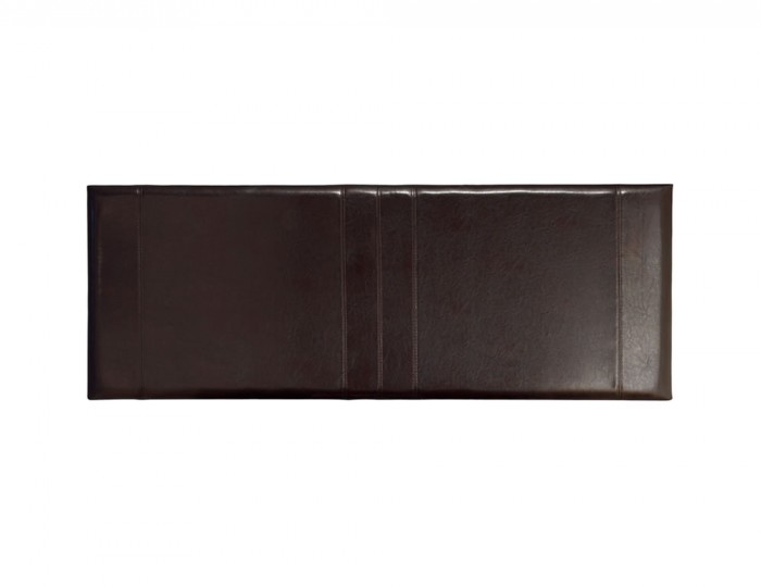 Carmen Brown Faux Leather Headboard