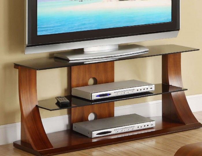 Dudley Large Walnut Glass TV Stand