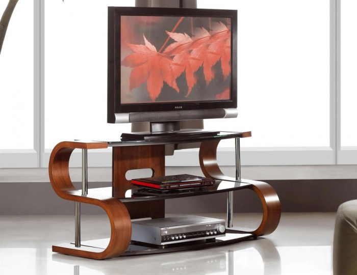 Scarlette Large 'S' Walnut TV Stand