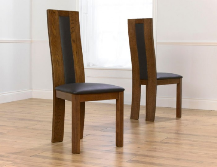 Anton Solid Dark Oak Dining Chairs