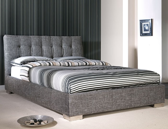 Nebraska Slate Upholstered Bed Frame